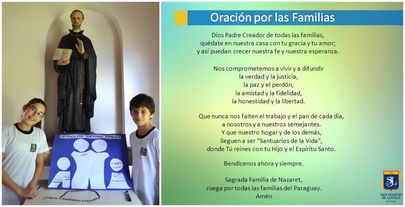 San Ignacio de Loyola Orando por nuestras familias